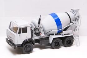 КамАЗ-55111 автобетоносмеситель АБС-5 (серый) 1:43