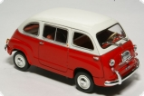 Fiat 600 Multipla - 1963 - red and white 1:43