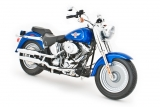 Harley-Davidson Fat Boy 2006 - синий 1:10