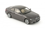 BMW 3-series Coupe - 2007 - sparkling graphite metallic - с открывающимся капотом 1:43