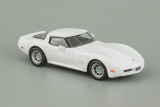 Chevrolet Corvette C3 Sting Ray - 1973 - белый - №63 с журналом 1:43
